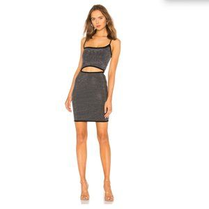 I.AM.GIA  Aurora Dress Black Silver Mini Dress NEW